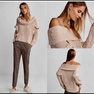 Express chunky cowlneck sweater size MED NWT